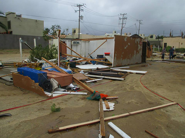 Many businesses, homes and churches suffered extensive damage in the storm. Photo courtesy of Vicki Reyes