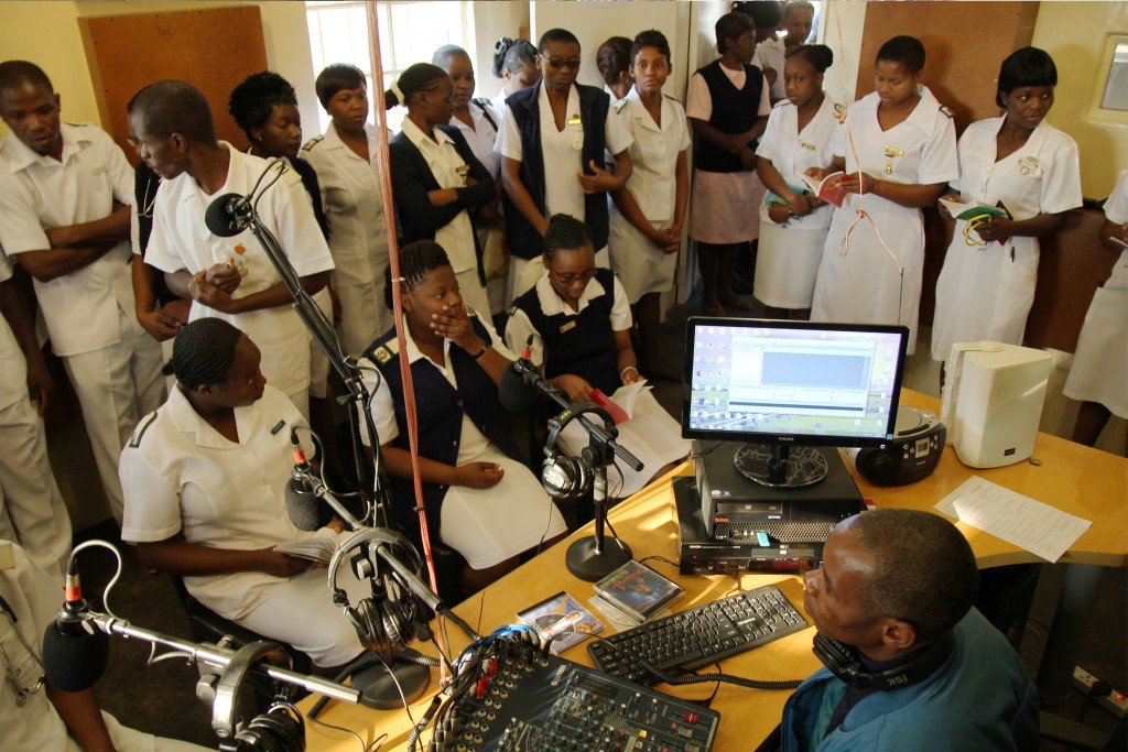 Karanda Mission Hospital has an in-house radio studio that broadcasts music, devotionals, local news, and Bible readings to the wards. Each Friday morning, the nursing students fill the studio to sing and pray over the patients.