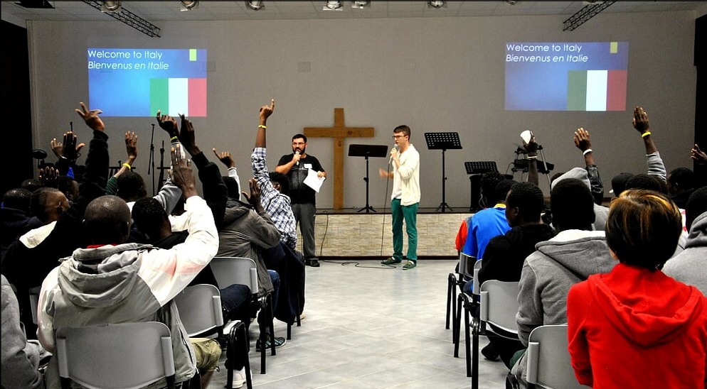New Life Church hosts Italian language and culture learning to equip refugees for independence and success.  Photo by TEAM worker in Italy