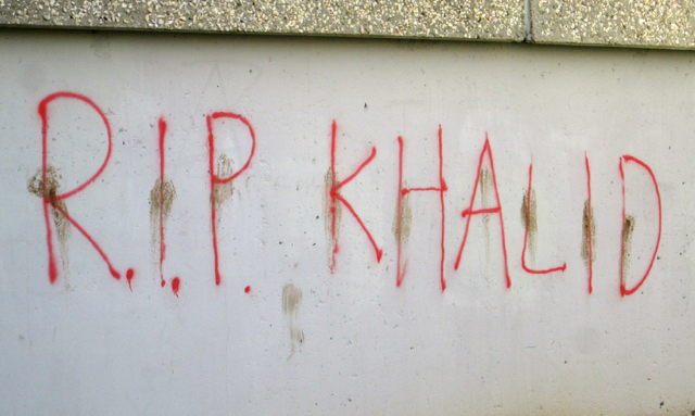 R.I.P. Khalid  Photo by Jeff Ingram