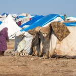 Syrian woman in the camp for displaced persons in Qatma, Syria