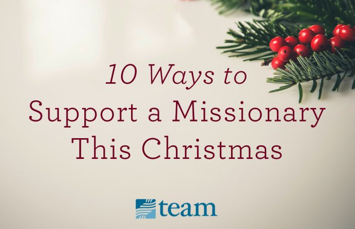 support missionary at christmas