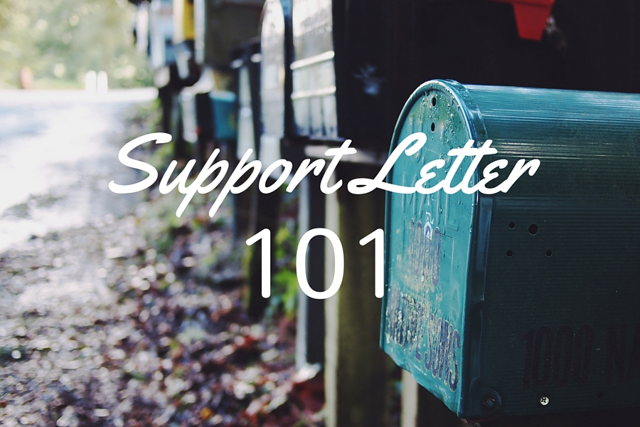 write a support letter