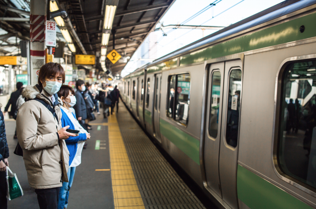 The train in Tokyo is the busiest train station in the world. Photo by TEAM