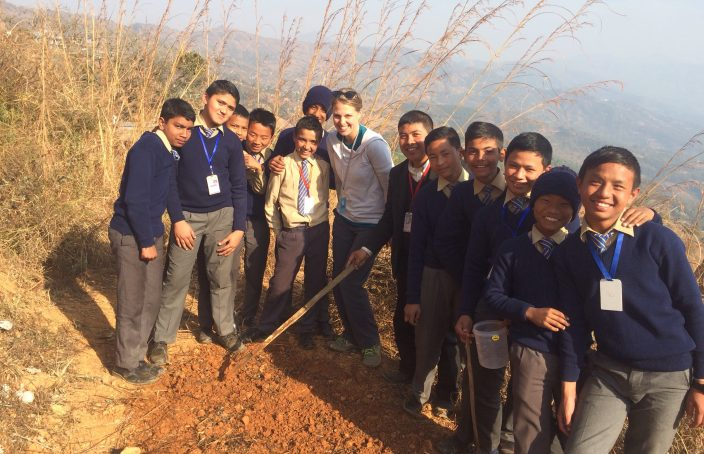 garden teacher in nepal
