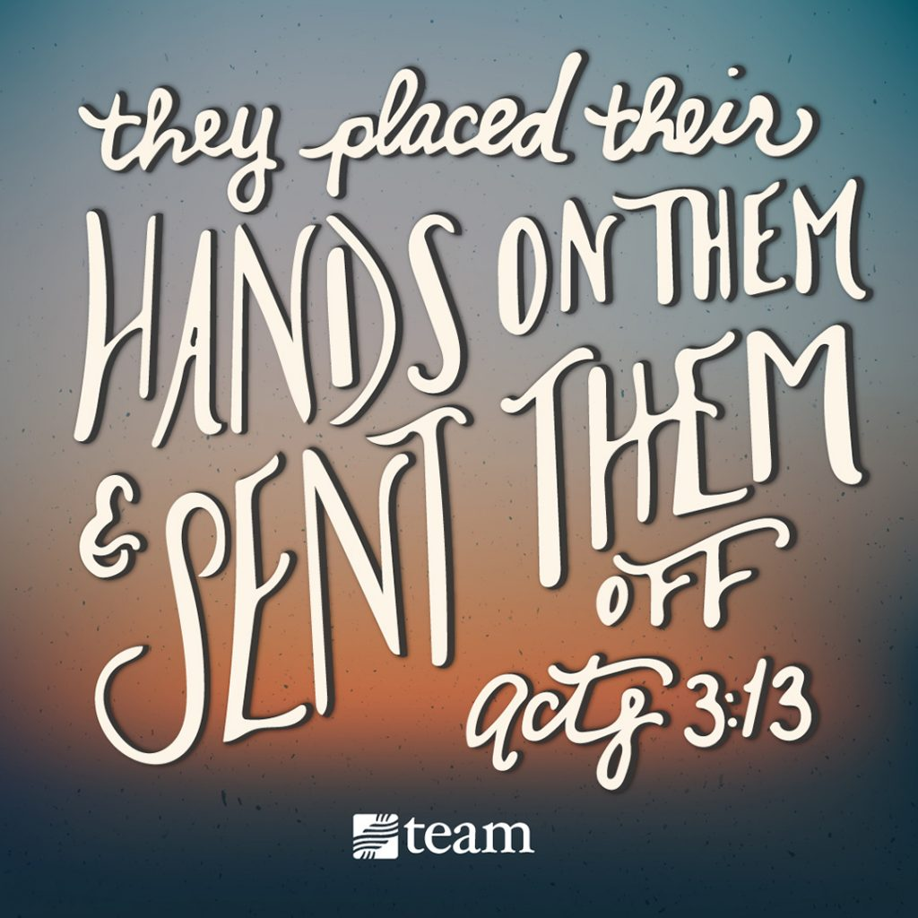 send missionaries acts 1:3