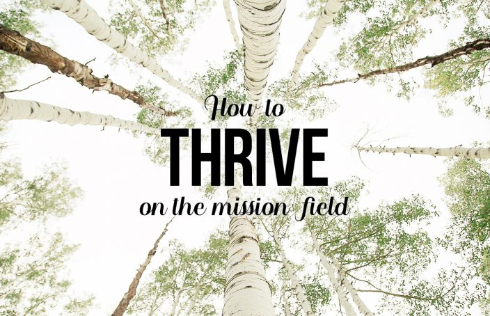 how to thrive on the mission field