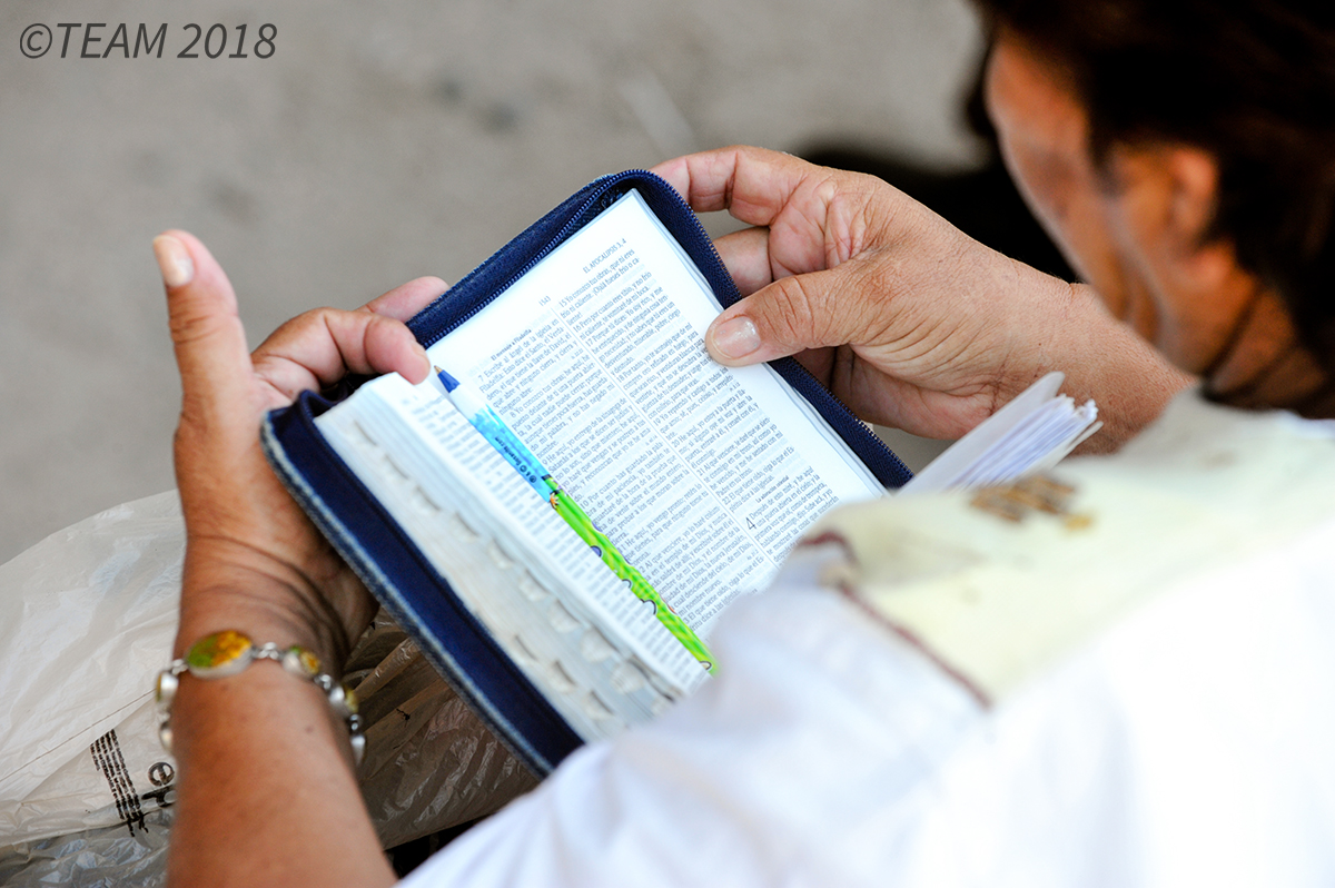 Woman with a Bible