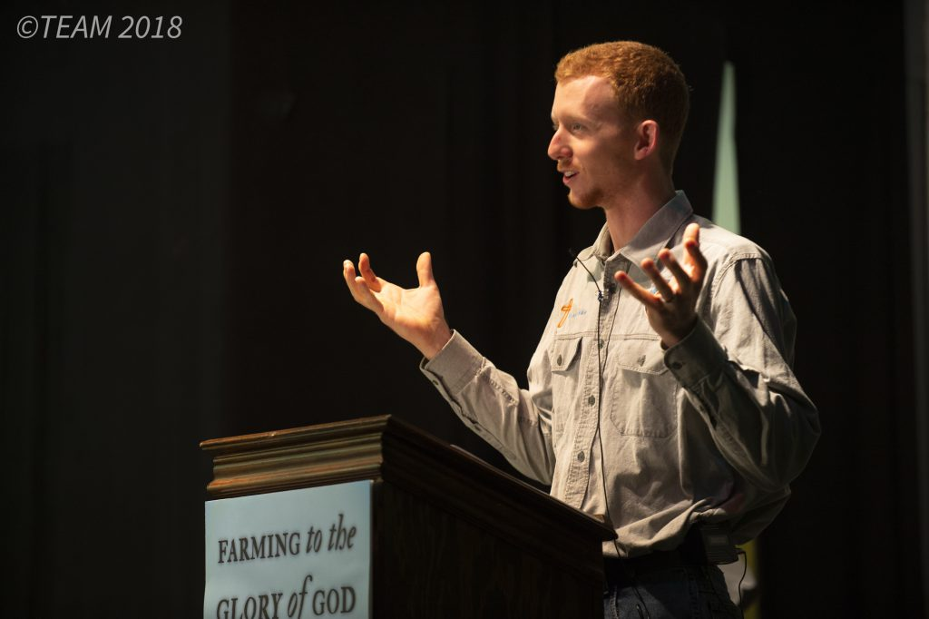 A missionary in North America gives a fundraising presentation.