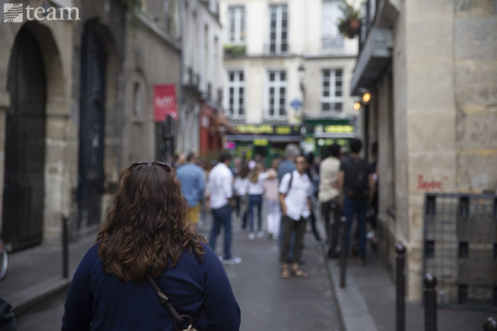 A woman in France looks to pass on the redemption
