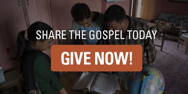 Partagez l'Évangile aujourd'hui. Donnez maintenant