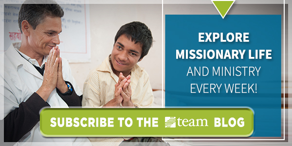 Explore missionary life and ministry every week! Subscribe to the TEAM blog.