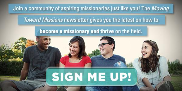 Rejoignez une communauté d'aspirants missionnaires tout comme vous. Inscrivez-vous à la newsletter Moving Toward Missions pour recevoir les dernières informations sur la façon de devenir missionnaire !