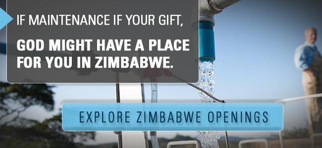 If maintenance is your gift, God might have a place for you in Zimbabwe. Explore missionary openings! Click here.