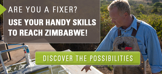 Are you a fixer? Use your skills to reach Zimbabwe? Click here to discover the possibilities!