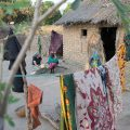 A missionary talks with a woman from an unreached people group in Chad.